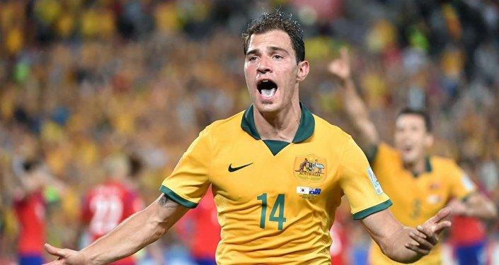 31 gennaio 2015, Sidney: Troisi esulta dopo il gol decisivo nella finale della coppa d'Asia contro la Corea del Sud