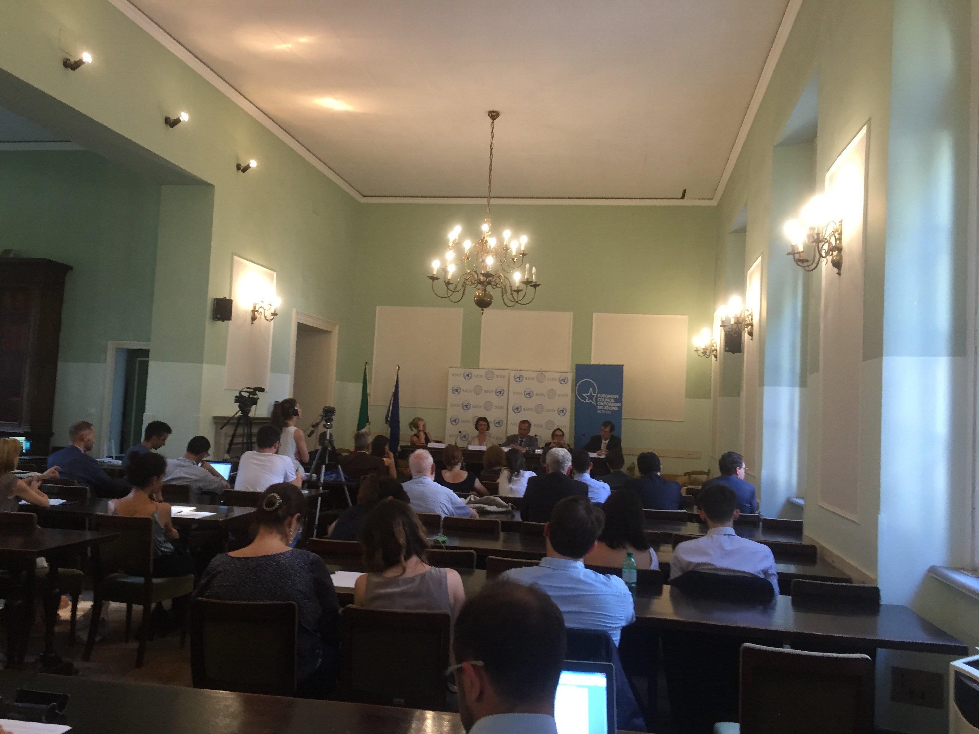 Al convegno organizzato dalla Società Italiana per l'Organizzazione Internazionale (SIOI)