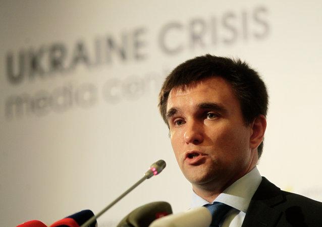 Ministro Esteri ucraino Pavlo Klimkin