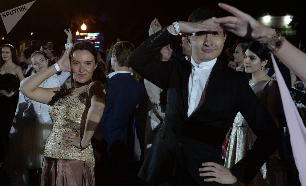 Le celebrazioni nel Parco di Gorkiy.
