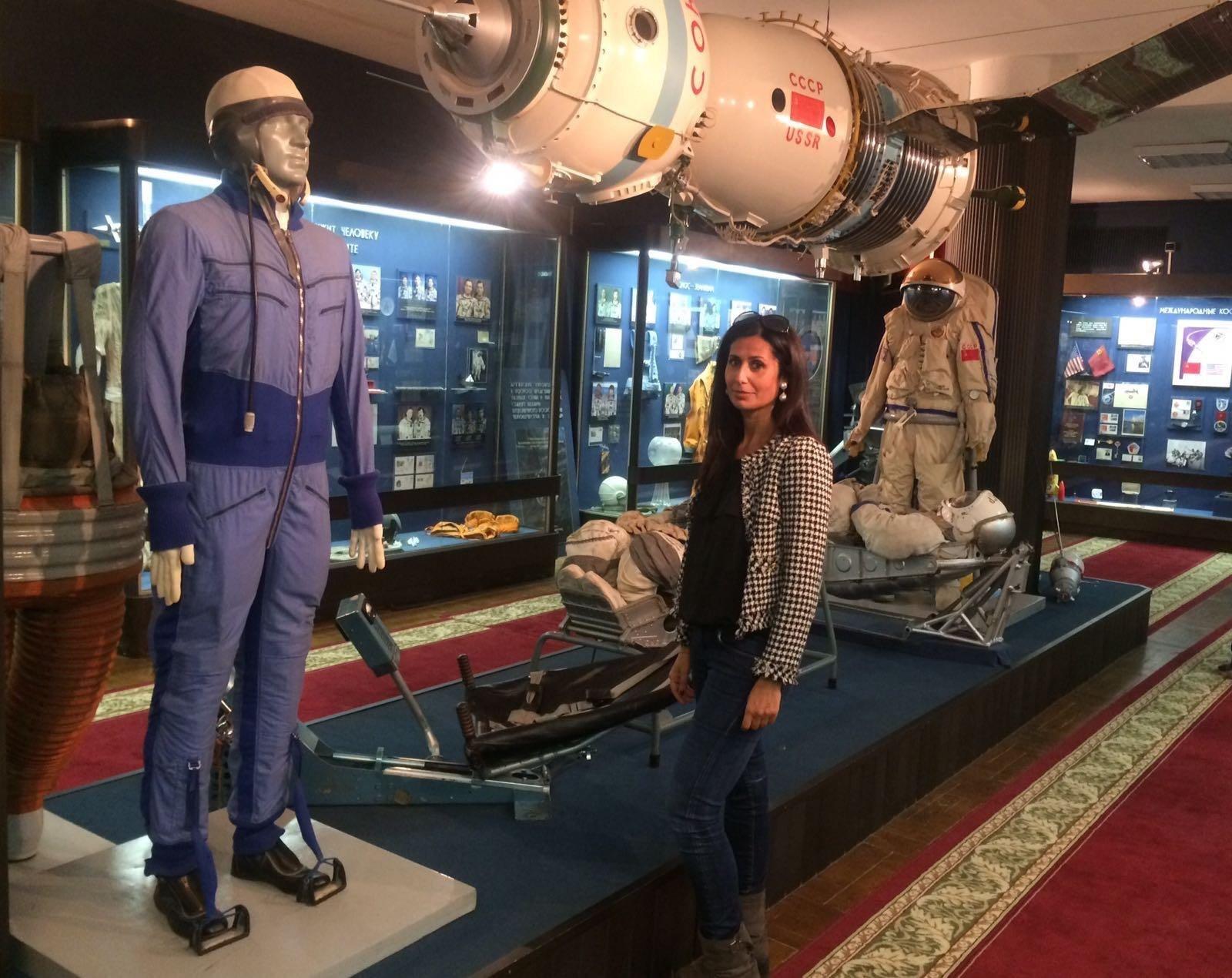 Alessandra Bonavina nel museo di Star City, Russia