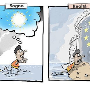 Migranti sognano dell'Europa
