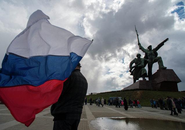 Bandiera russa a Sebastopoli