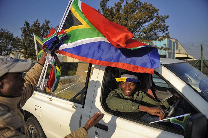 Un momento di festa nelle strade di Johannesburg durante la Coppa del Mondo del 2010