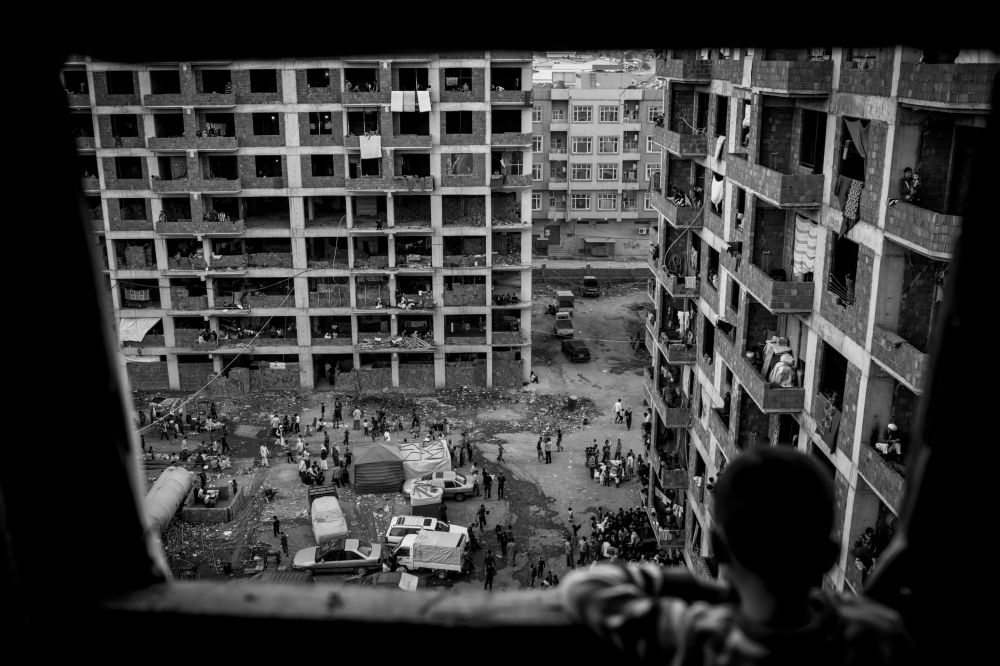 La fotografia del tedesco Christian Werner 74, 2° posto al Concorso Internazionale di fotogiornalismo in memoria di Anrej Stenin nella categoria Problemi Contemporanei. serie