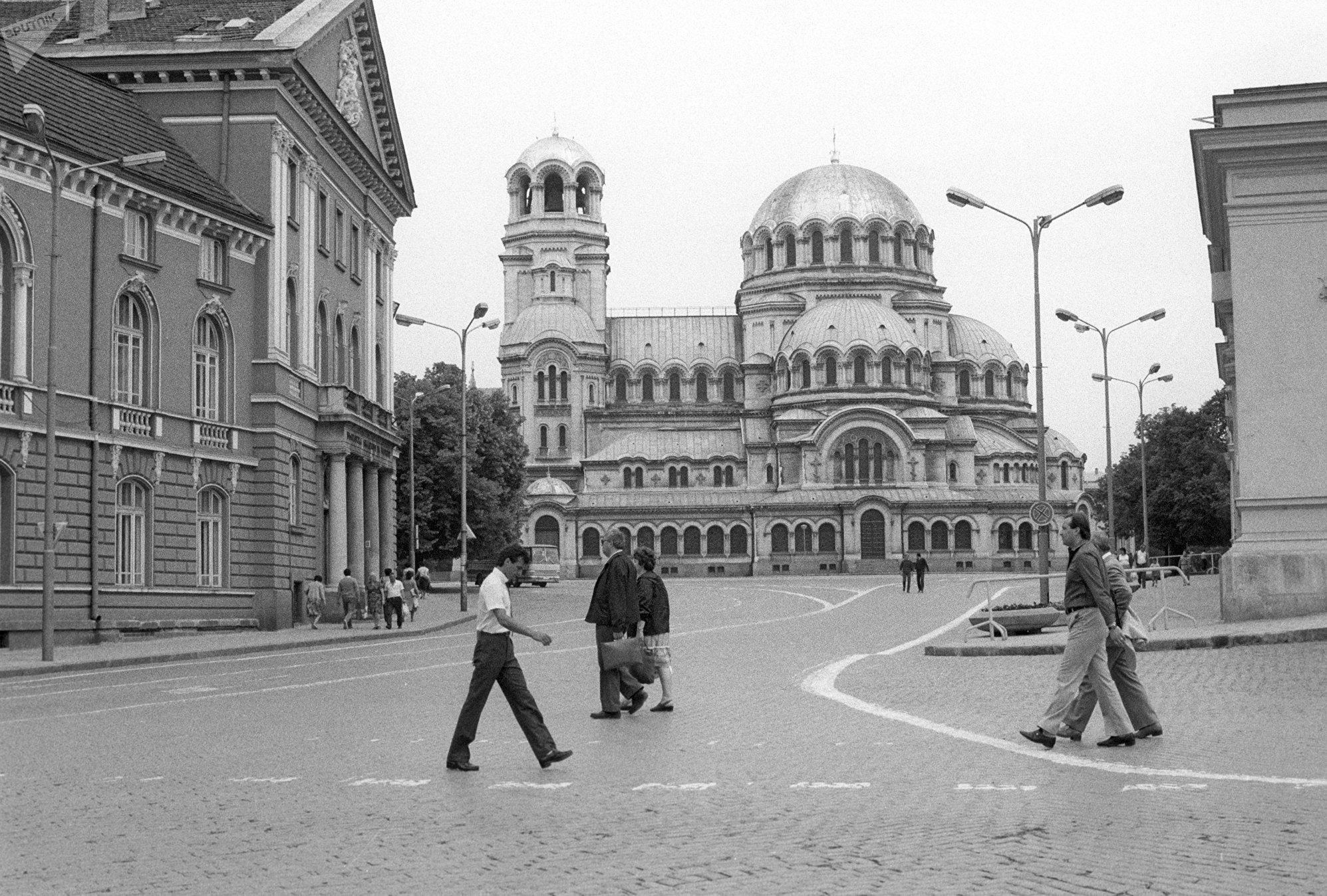 La cattedrale Aleksandr Nevskiy a Sofia - Bulgaria, nell' estate del 1984