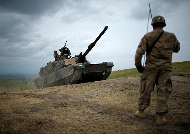Tank americano Abrams in Georgia per le esercitazioni Noble Partner
