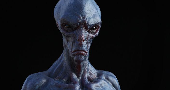 Immagine di un alieno in 3D