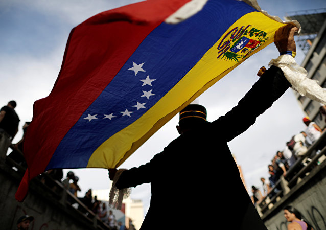 Manifestante antigovernativo in Venezuela