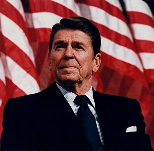 Reagan in Minneapolis, Minnesota, 1982