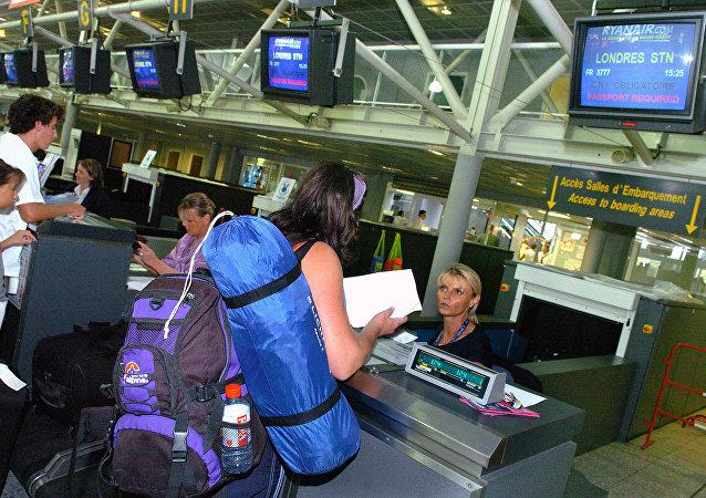 Coda al check-in in aeroporto