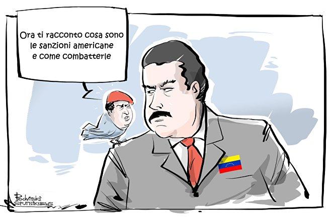 USA impongono sanzioni al presidente venezuelano Nicolas Maduro