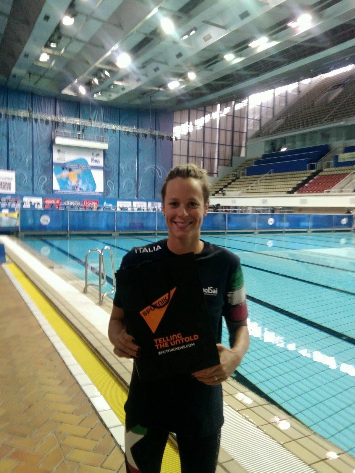 Federica Pellegrini alla piscina Olimpiyskiy di Mosca