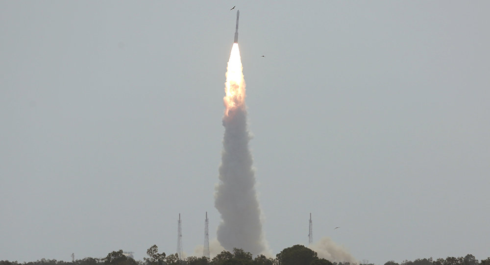 India's Polar Satellite Launch Vehicle (PSLV) C38, carrying Cartosat-2 and 30 other satellites, lifts off from the Satish Dhawan Space Centre in Sriharikota, India, June 23, 2017