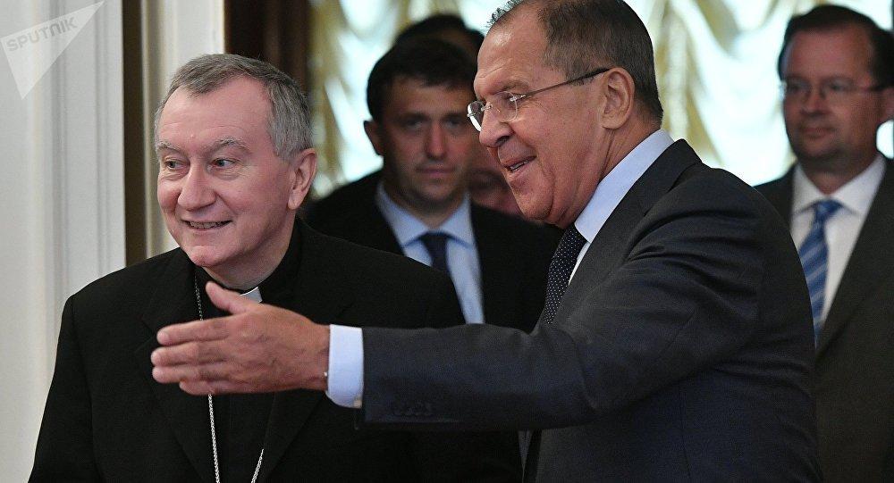 Sergei Lavrov meets with Vatican Secretary of State Cardinal Pietro Parolin