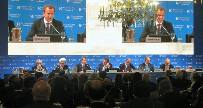 Intervento del vicepremier russo Arkadij Dvorkovič al Forum The European House – Ambrosetti a Cernobbio.