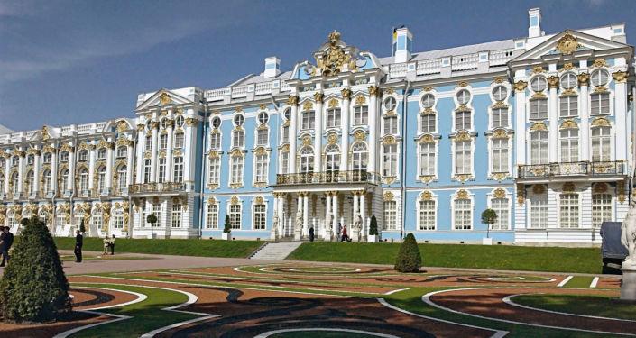 Il palazzo di Caterina, a Tsarskoe Selo, progettato dall'architetto italiano Rastrelli