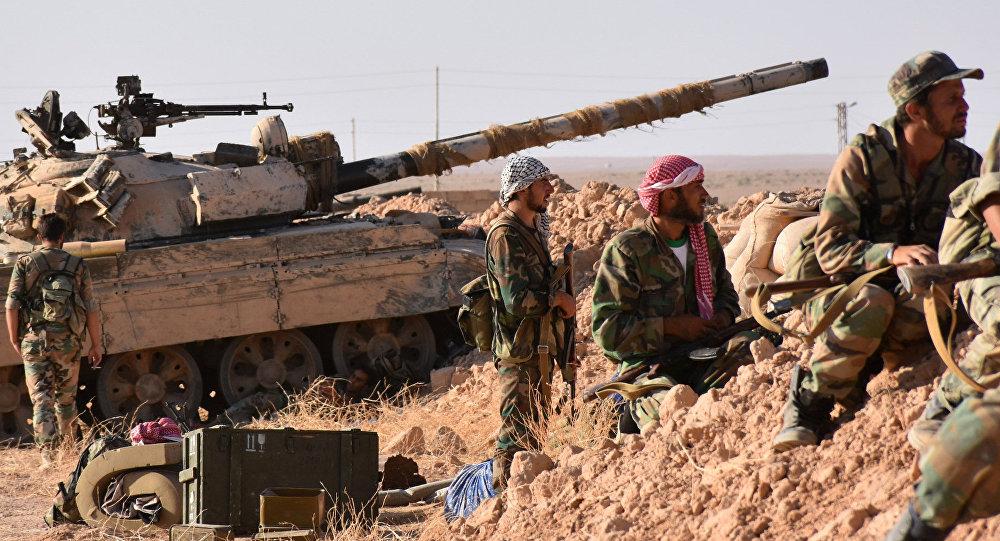 Forze governative siriane sul fronte di Deir ez-Zor