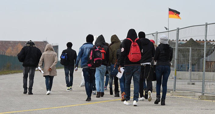 Immigrati al confine della Germania