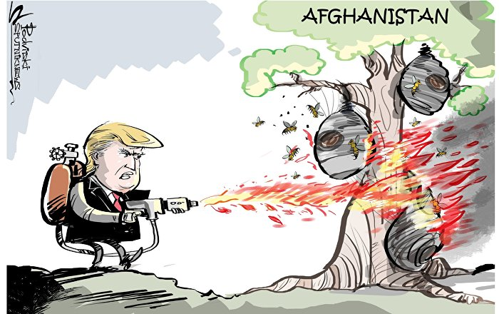 Trump bombarda i talebani come nessuno mai