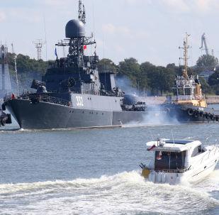 Le navi della Flotta del Baltico in azione