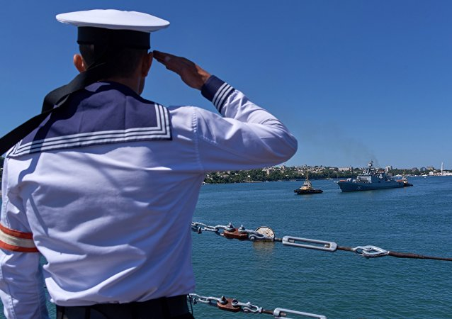 Ceremony to welcome the Black Sea Fleet's new frigate Admiral Essen that has arrived in Sevastopol following combat operations near the coast of Syria