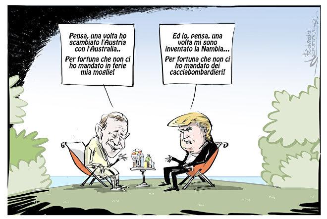 Trump si inventa un nuovo paese