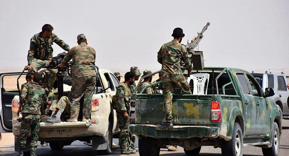 Soldati siriani a Deir ez-Zor