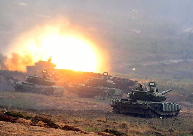 I carri armati T-72, Zapad-2017