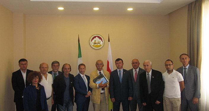 La delegazione italiana in Ossezia del Sud
