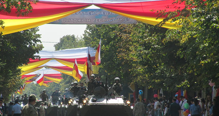 La parata militare in Ossezia del Sud