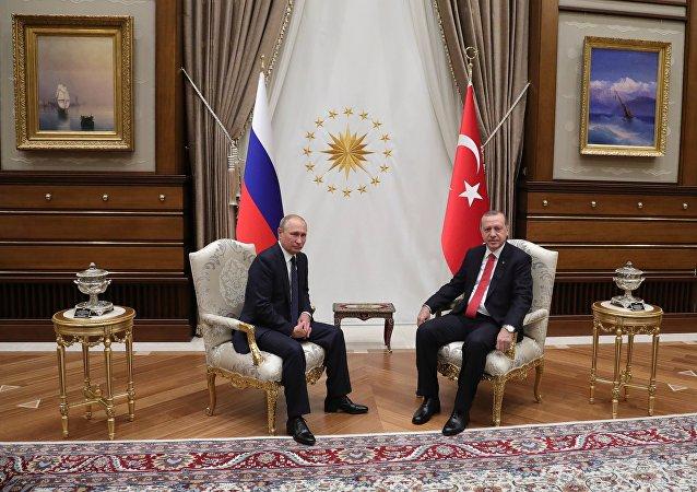 Vladimir Putin e Recep Tayyip Erdogan