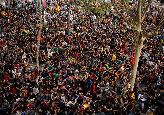 Manifestazioni a Barcellona