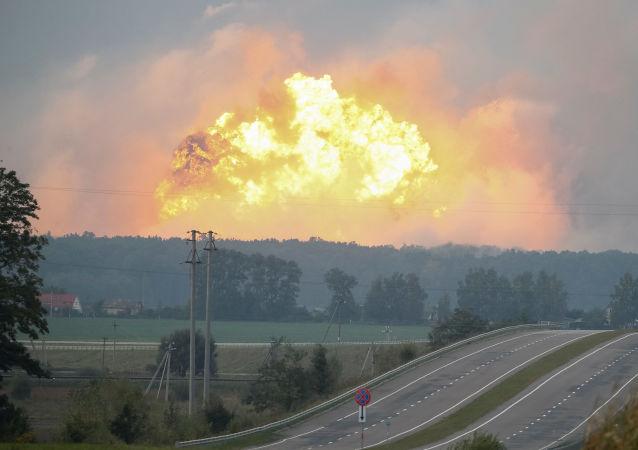 Esplosione nel deposito di Kalinovka