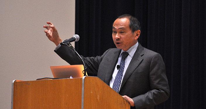 Francis Fukuyama, un politologo statunitense noto per essere l'autore del saggio politico del 1992 Fine della storia.