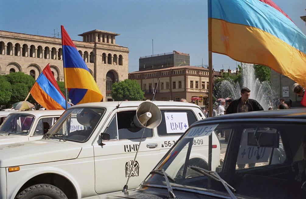 Manifestazione nel centro di Yerevan, settembre 1989