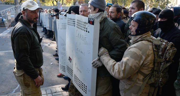 Dimostranti a Kiev