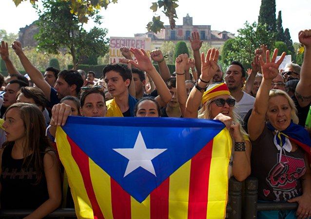 Le proteste contro il governo spagnolo, Barcellona