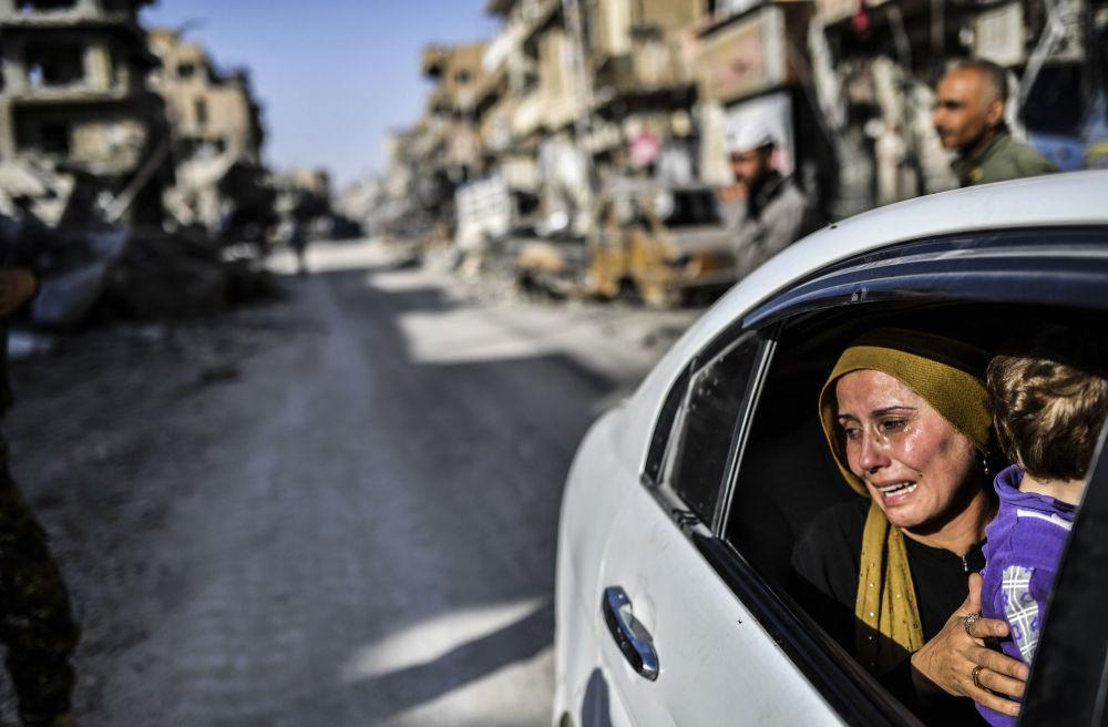 Le rovine di Raqqa