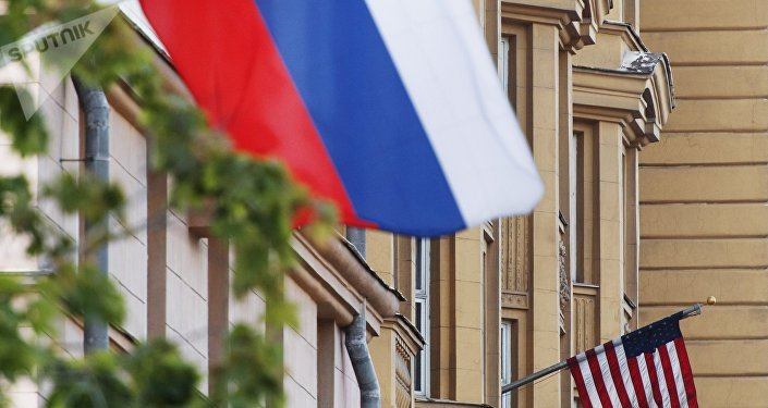 Le bandiere Russia USA