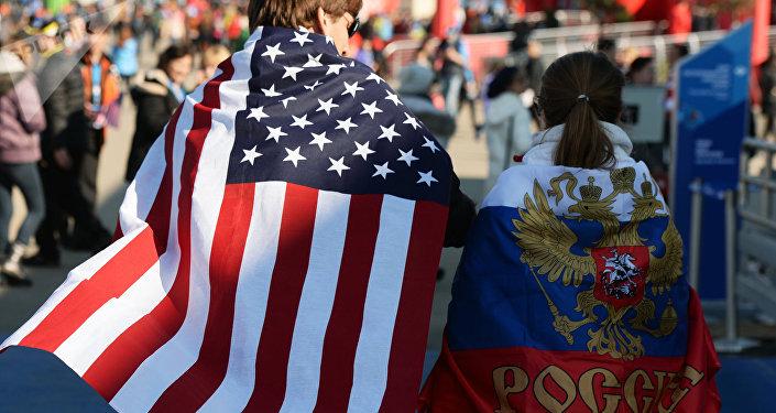 Bandiere di Russia e USA