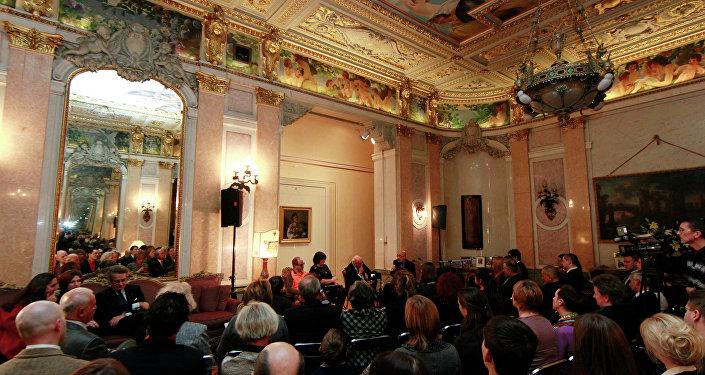 Gli interni dell'Ambasciata d'Italia a Mosca