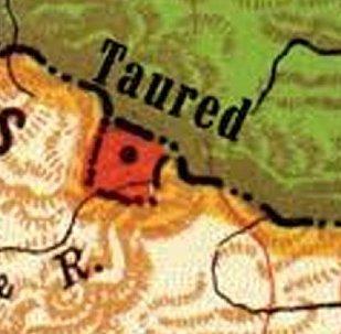 La località di Taured indicata su un cartina geografica