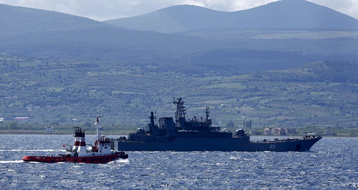 Nave da guerra russa nel Mediterraneo