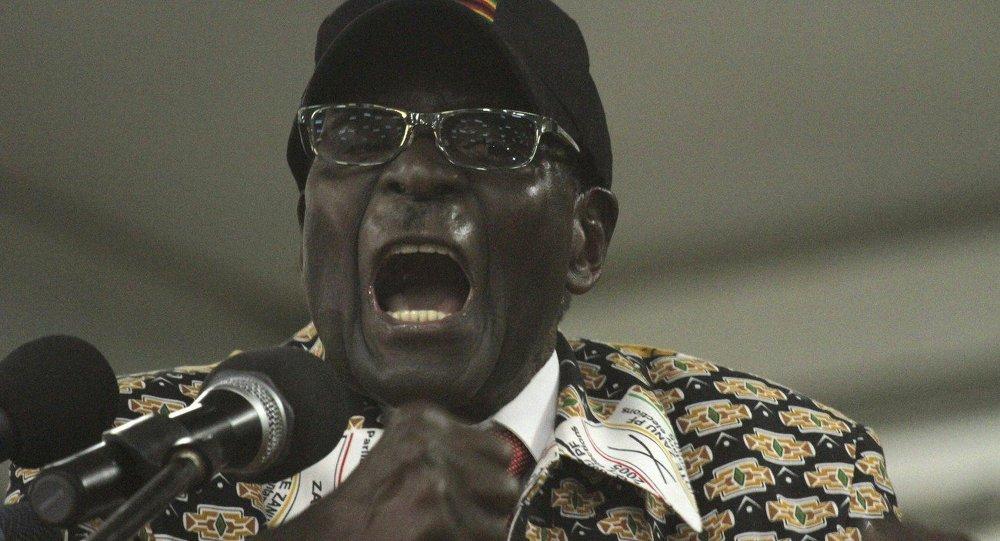 Il presidente del Zimbabwe Robert Mugabe