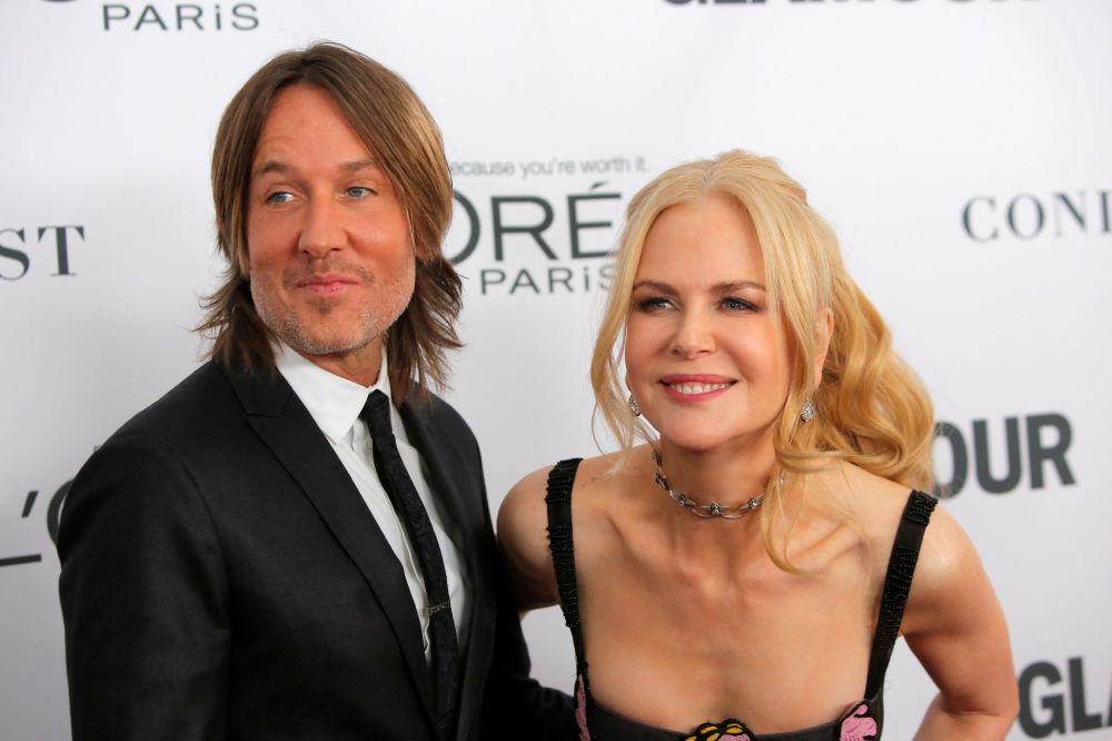 Il cantante e ghitarrista australiano Keith Urban e l'attrice australiana Nicole Kidman alla Glamour Women of the Year Awards 2017.