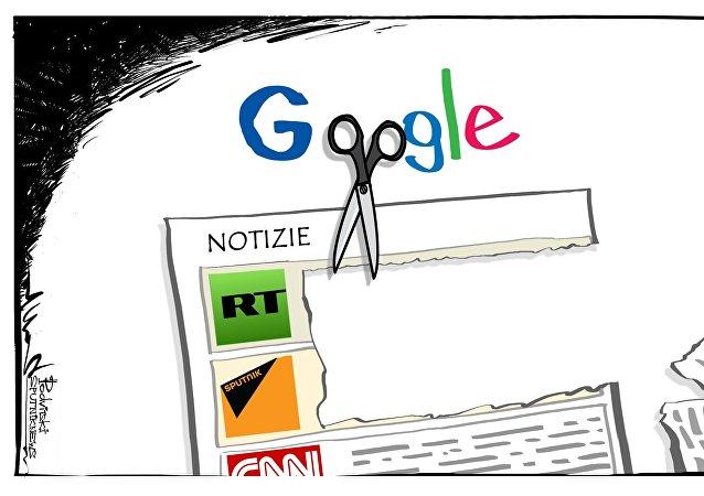 Google contro RT e Sputnik.