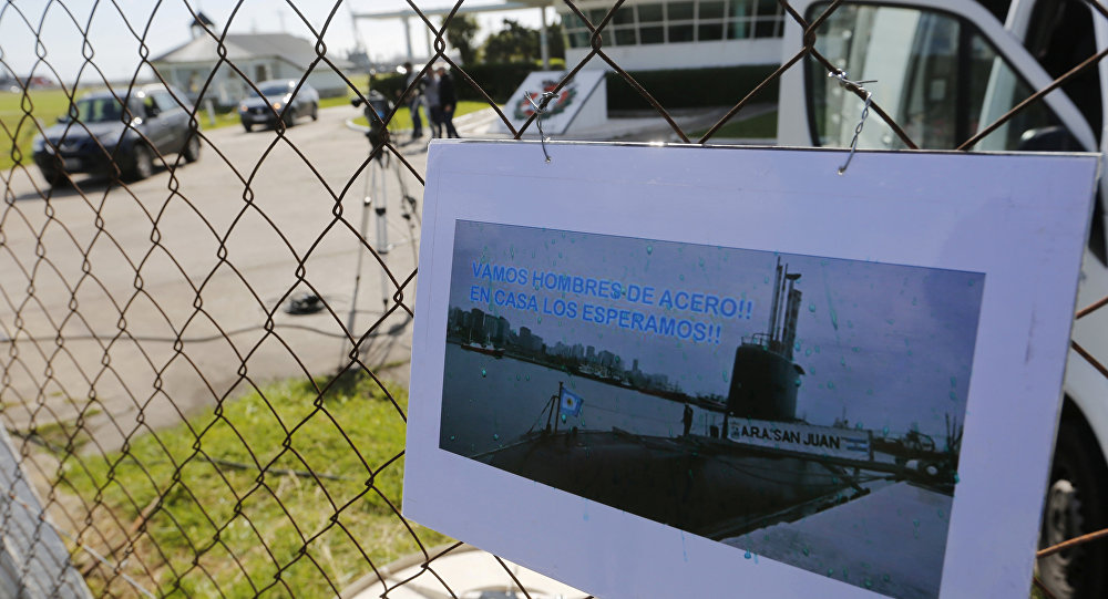A picture of the Argentine submarine ARA San Juan written in Spanish Come on steel men. We will wait for you at home hangs from the fence at the Navel base in Mar del Plata, Argentina, Sunday, Nov. 19, 2017