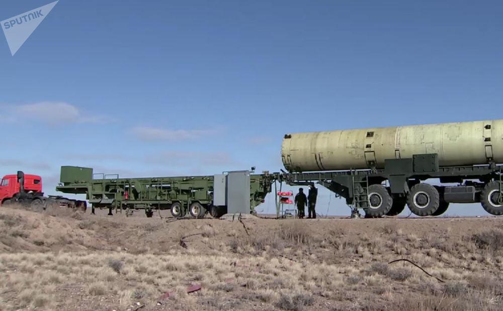 I collaudi dello scudo spaziale russo nel poligono di Sary-Shagan in Kazakhstan