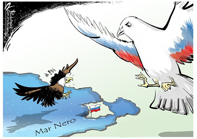 Gli aerei USA volano sopra Mar Nero